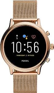 Fossil Orologio Touchscreen Smartwatch Gen 5 Julianna HR Wear OS by Google, Monitoraggio Attività e Battito Cardiaco, GPS integrato per il Rilevamento della Distanza