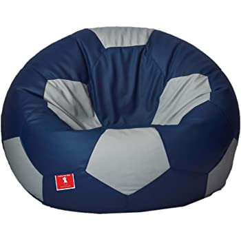 Comfy Bean Bags Football XXXL Bean Bag Without Fillers Cover Indigo Impressive How To Make Bean Bags Without A Sewing Machine