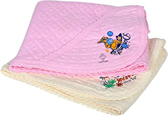 Sathiyas Baby Cotton Combo Of 2 Hooded Towels