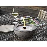 Beske-Betonfeuer mit 'Dauerdocht' | Ø 24cm mit großer Brennkammer | Wiederbefüllbare Gartenfackel | 'Unendliche' Brenndauer d