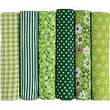 UOOOM Lot de 6pcs 50 x 50 cm Patchwork Coton Tissu DIY Fait à la Main en Tissu à Coudre Quilting Designs Différents (Tone-Gre