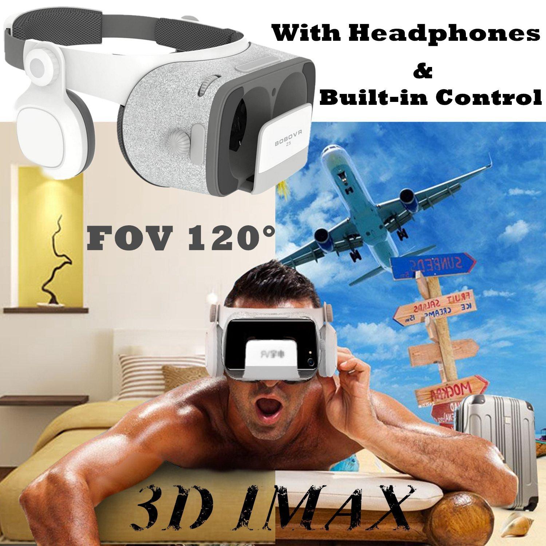 Casque de réalité virtuelle 3D, casque avec contrôleur et casque [HiFi 720 °], FOV 120 Visionneuse de lunettes VR pour téléphone portable iOS iPhone XS XR X 8 7 Plus, Android Samsung S9 S8 S7 S6 Edge