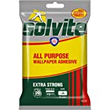 Solvite Extra Strong All Purpose Fast Mix - Colla adesiva per carta da parati, per fissare 10 rotoli, 185 g