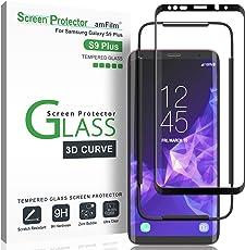 Galaxy S9 Plus Displayschutzfolie, amFilm Vollständige Abdeckung (3D Abgerundete) Panzerglas (Gehärtetem Glas) Schutzfolie für Samsung Galaxy S9 Plus (1 Stück, Schwarz)