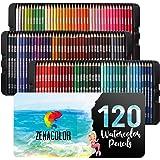 120 Lapices Acuarelables Zenacolor, Numerados, con Caja - Set de Lápices de Colores para Acuarela - 120 Lapices de Colores Pr