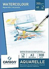 Canson Aquarellpapier 300 g/m² Aquarellblock je 10 Blatt weiß – Papier mit hoher Qualität für Aquarell Kunst säurefrei