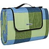 SONGMICS wÄrmeisoliert Wasserdichte Picknickdecke, Stranddecke mit Tragegriff , GCM50C, 195 x 150 cm, Blau