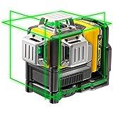 Dewalt DCE089D1G-QW DCE089D1G-QW-Láser autonivelante de 3 lineas de 360º-Incluye batería DW 10,8V Litio-Verde, Negro/Amarillo