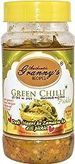 Authentic Granny's Recipes Green Chilli Pickle in Sesame Oil 250gms
