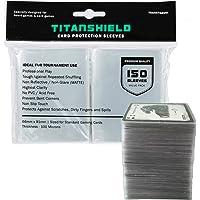 TitanShield Lot de 150 pochettes de protection pour cartes jeux de société et cartes à collectionner pour Magic The…