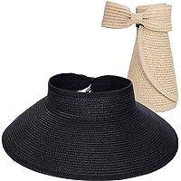Maylisacc Cappello Visiera Pieghevole Cappello Estivo da Sole Donna con Lovely Bowknot da Donna UPF 50