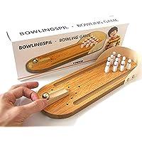 crazycrafts wooden mini-entertainment desktop bowling game set-Multi color