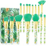 Tropical Makeup Brushes Docolor 14 Pieces Professional Makeup Brushes Set Premium Synthetic Kabuki Foundation Blending Contou