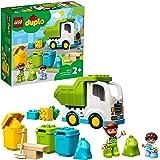 LEGO 10945 Duplo Le Camion Poubelle et Le tri sélectif Jeu de Construction éducatif pour Enfant 2 Ans et Plus