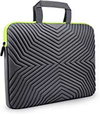Tizum Z17 13-inch to 14-inch Designer Ultra Slim Handle Sleeve Bag with Shock Proof Foam Protection for Laptops (Grey)