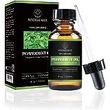 Huile essentielle de menthe poivrée, 100% pure, organique et naturelle, huile de menthe poivrée de qualité thérapeutique pour