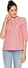 Styleville.in Women's Checkered Regular Fit Top