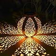 Lanterne solaire extérieure, Tencoz lanterne solaire Lanternes suspendues Lampes solaires Lanterne de jardin Patio Décor Méta