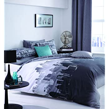 Catherine Lansfield Set Biancheria da letto, Matrimoniale, 200 x 200 cm