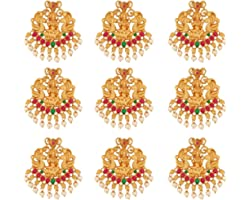Apara Traditional Gold Plated Bridal Wedding Collection Antique Finish Jada Hair choti Accessory for Women