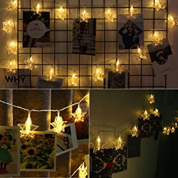 Websun 20 leds star led photo clips string lights battery operated websun 20 leds star led photo clips string lights battery operated wall fairy string lights for aloadofball Choice Image