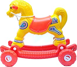 Golden Traders Fashionable 2 in 1 Horse Rocker 'N' Ride On (Yellow)