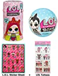L.O.L. Surprise! Gift Bundle Includes Hairgoals Series 2 + Boys Series Doll + LOL Surprise Sticker Sheet and 8 Tattoos