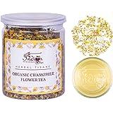 The Indian Chai - Organic Chamomile Tea (1.75oz/ 50 Gm) | Certified Organic - Detox Tea - Calming Tisane - Herbal Tea - Caffe