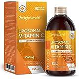 Vitamine C Liposomale 1000 mg Liquide 250 ml | Vitamine C Acérola 100 mg + Acide Ascorbique + Vitamine D Vegan 500 ui en Solu