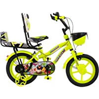 Hi Fast 14 Inch Kids Cycle for 2 Years to 5 Years Boys & Girls with Back Seat (14T-Semi Assembled)