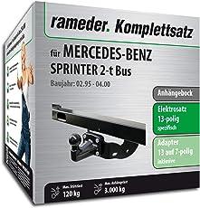 Rameder Komplettsatz, Anhängebock mit 4-Loch-Flanschkugel + 13pol Elektrik für Mercedes-Benz Sprinter 2-t Bus (113698-02040-6)