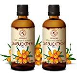 Sea Buckthorn Fruit Oil 200ml - Cold Pressed - Unrefined - 100% Pure & Natural - Hippophae Rhamnoides Oil - Best for Hair - F