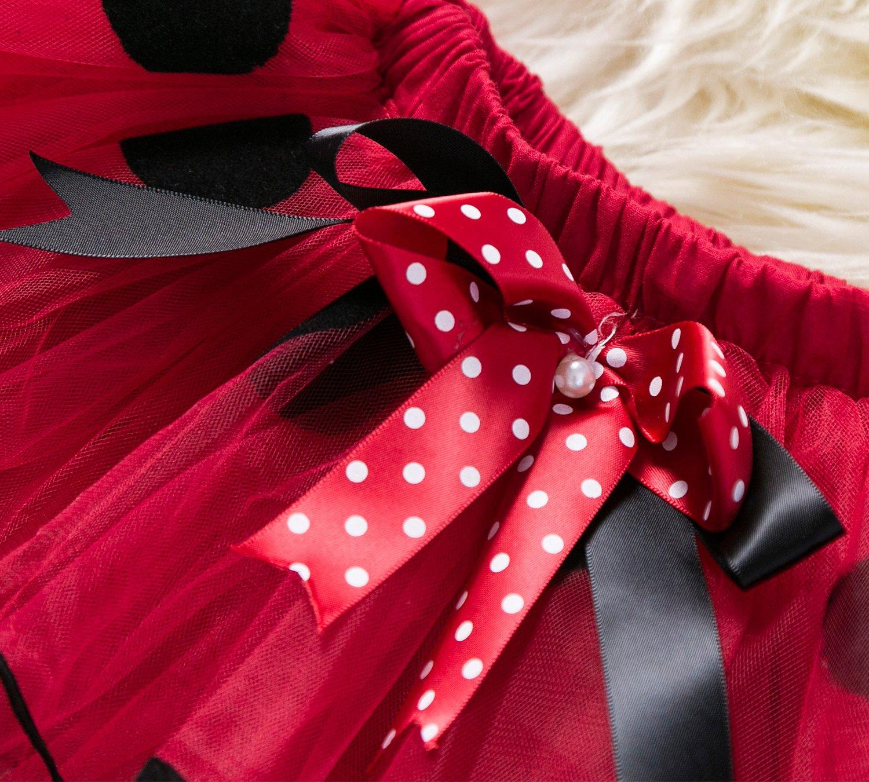 TTYAOVO Bebé Niña 1er cumpleaños 3pcs Conjuntos con Diadema de Unicornio y Mameluco y Faldas 5