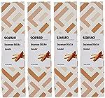 Amazon Brand - Solimo Incense Sticks, Sandal - 70 sticks/pack (Pack of 4)