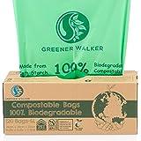 Greener Walker 25% extra dik, composteerbare biologisch afbreekbare afvalzakken 6 l/10 l/30 l vuilniszakken (6-120 vuilniszak