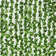 JPSOR 24pcs 158 Feet Fake Ivy Leaves Fake Vines Artificial Ivy, Silk Ivy Garland Greenery Artificial Hanging Plants for Weddi