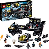 LEGO 76160 DC Batman Mobile Bat Base Batcave Truck Toy with Jet Plane, Quad Bike, Motorbike & Water Scooter