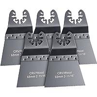 Lame de scie plongeante standard CRV pour outils multifonctions - 68 mm (x5) [AGT Professional]