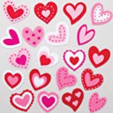 Baker Ross AT556 Heart Felt Stickers - Pack of 100, Self-adhesives, Perfect for Children to Decorate Collages and Crafts, Ide