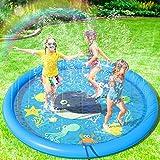 Peradix Splash Pad,Sprinkler Play Matte,170cm Sommer Garten Wasserspielzeug Kinder Baby Pool Pad Spritzen für Outdoor Familie Aktivitäten/Party/Strand/Kinder, Haustiere - Nicht aufblasbar