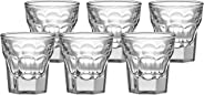 Amazon Brand - Solimo Alissa Shot Glass Set, 30ml, Set of 6, Transparent