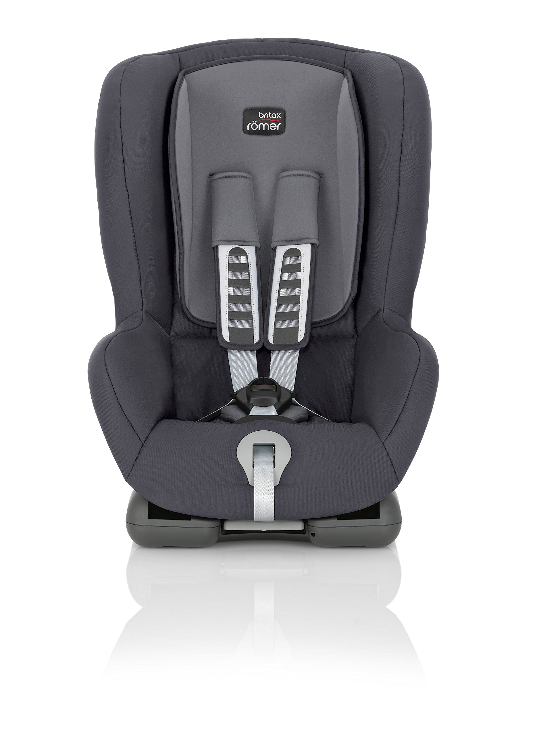 Britax Römer car seat, DUO PLUS Isofix group 1 (9-18 kg),Storm Grey Britax Römer Compatible with ISOFIX or 3-point seat belt installation this seat caters to any car Comfort without compromise - deep, padded side wings and multi-position recline Pivot link system to reduce forward movement in the event of an accident 3