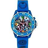 Avengers bambini colorati-Orologio da donna al quarzo con Display analogico e cinturino in gomma, AVG3506, colore: blu