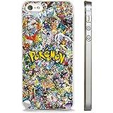 Coque transparente pour Apple iPhone 7 Motif dessin animé Pokémon