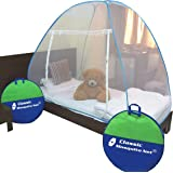 Classic Mosquito Net , Single Bed , Polyester Foldable - Blue