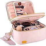 BQTQ Doppelschicht Kosmetiktasche, Große Kosmetiktasche Reise MakeupTasche Reise Schminktasche Makeup Tasche Organizer für Fr