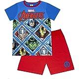 Breve Pijamas Paneles Marvel Avengers Azul de Red Boy
