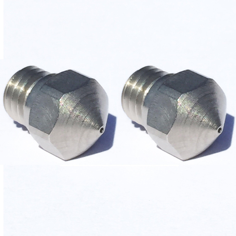Micro Swiss haute résistant à l'usure Superlubrifiantes Buse mise à niveau MK100,6mm (2pièces)-pour Flashforge Dremel PowerSpec Wanhao avec des fils M7