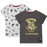 HARRY POTTER Camiseta de Manga Corta Paquete de 2 para niñas Hogwarts