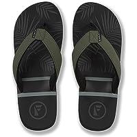 FoamLife Flip Flops Men's - Raised Arch Support, PVC Free & Vegan, Comfy Fit - Rullen Beach Sandals